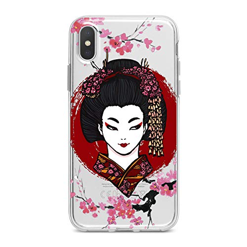 Lex Altern TPU Case for iPhone Apple Xs Max Xr 10 X 8+ 7 6s 6 SE 5s 5 Japan Beauty Soft Sacura Gift Design Print Flexible Slim fit Flowers Smooth East Lightweight Geisha Makeup Cover Clear Blossom]()