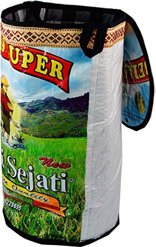 Guru-Shop Upcycling Tasche, Wäschesack aus Recycelten Reissack, Herren/Damen, Mehrfarbig, Size:One Size, 52x30x30 cm, Upcyceling Taschen
