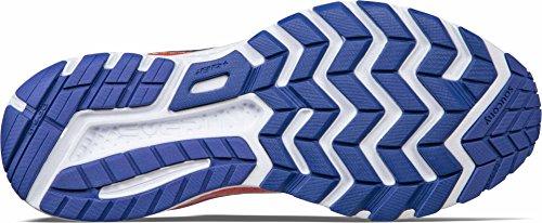 Saucony RIDE 10, Scarpe running uomo, Orange/Blue Blu Marino-rosso