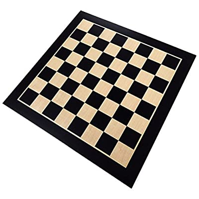 Best Chess Set Klamath Chess Board with Inlaid Maple and Beech Wood - Board Only – 19 Inch