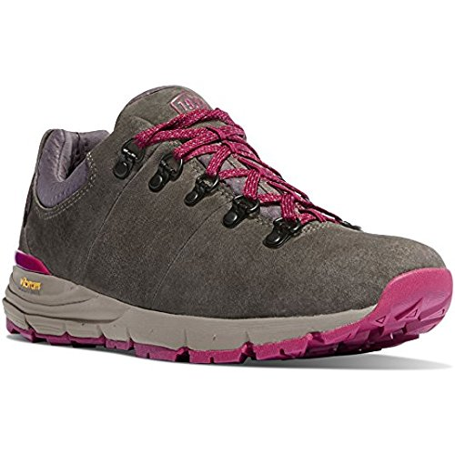 Danner Women's Mountain 600 Low 3'' Gray/Plum Vibram Sole Outdoor Boots   Waterproof  Hiking Combat Boot   Mountain Boot   Downhill Braking and Side-Hill Traction (9.5 M)