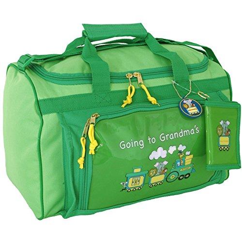 Seward Trunks Childrens Duffel Bag Going to Grandmas Red