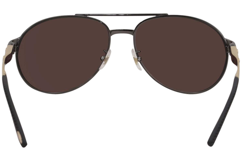 Chopard Sunglasses SCH932 K10G Gunmetal-Gold-Black Leather//Gold Mirror Polarized