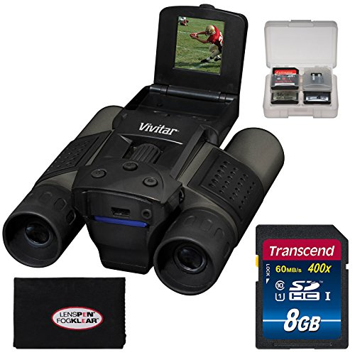Vivitar 12x25 Binoculars with Built-in Digital Camera with 16GB Card + Accessory Kit by Vivitar