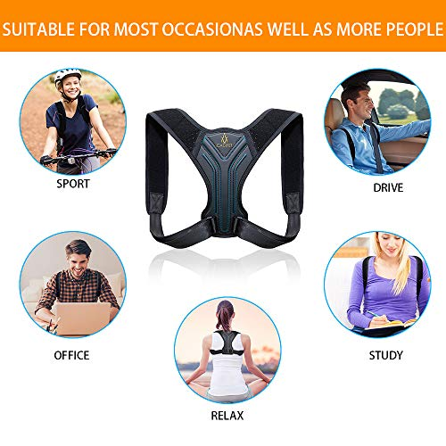 Posture Corrector for Women and Men - Upper Back Brace Straightener Posture Correction for Clavicle Support and Comfortable Posture Trainer - Providng Neck, Back and Shoulder Pain Relief
