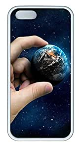 iPhone 5 5S Case The Hands Of The Earth TPU Custom iPhone 5 5S Case Cover White