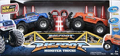 - New Bright Wheels Bigfoot Monster Trucks Set (2 Motorized Trucks)