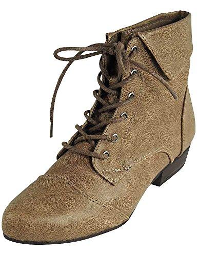 Breckelles Ladies Indy-11 Bootie Boot Beige 51aHR