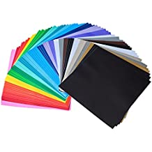 """iImagine Vinyl 72-Sheets of Premium Permanent Self Adhesive Vinyl Sheets, 12"""" x 12"""", Assorted Colors (Glossy, Matte and Metallic) for Craft Cutters, Cricut, Silhouette Cameo Machines"""