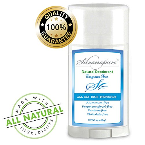 Natural Deodorant Stick Aluminum Free Unscented 2.9 oz | Healthy Deodorant GMO-Free | 100% Non-Toxic Deodorant | All Day Protection | Natural Deodorant For Men And Women | Non Irritating | No Rash