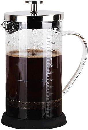 Cafetera Francesa de presión de Uso en el hogar Filtro de Olla Vidrio Resistente al Calor Máquina de té Taza de Filtro Cafetera Manual: Amazon.es: Hogar