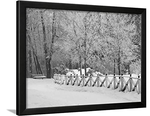 ArtEdge Winnipeg Manitoba, Canada Winter Scenes Keith Levit, Black Framed Wall Art Print, 18x24 in (Winnipeg Scenes Winter Manitoba Canada)