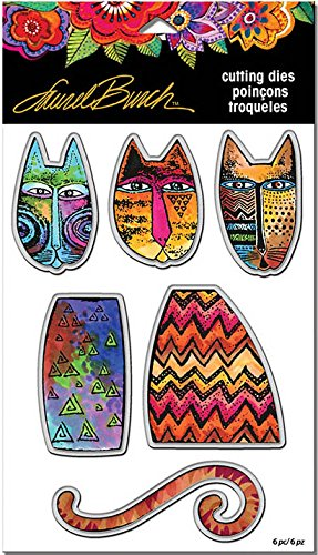 Stampendous Laurel Burch Cling Stamp and Die - Tribal Cats - 2 Item Bundle