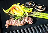 Chef Brooklyn BBQ Grill Mat - Set of 2 Heavy Duty Non-Stick Grilling Mats 16x13 Inch Ideal for Gas, Charcoal, Oven or Electric Barbeques Great Gift for Dad
