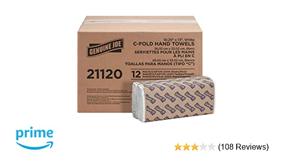 Genuine Joe GJO21120 C-Fold Paper Towels Pack of 2400 FREE 2 DAY SHIPING!