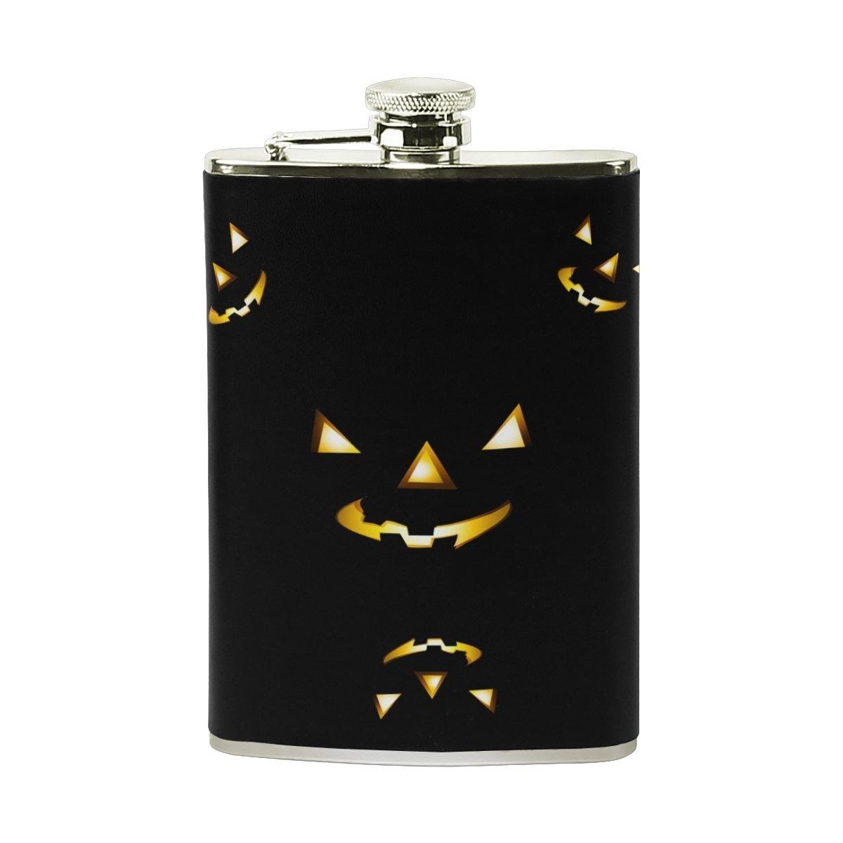ハロウィンシュガースカルヒップフラスコステンレススチールポケットボトルセットレザー男性女性Wrapped Liquor Shot Drinking 15.6cm*9.6cm (H*L) FENNEN-10  Select Color 1 B07G17JVF9