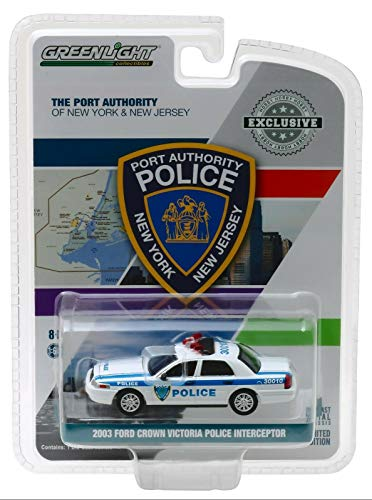Greenlight 2003 Ford Crown Victoria Police Interceptor Port Authority of New York & New Jersey Police \Hobby Exclusive\ 1/64 Diecast Model Car