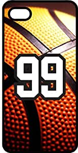 Basketball Sports Fan Player Number 99 Black Plastic Decorative iphone 5s Case