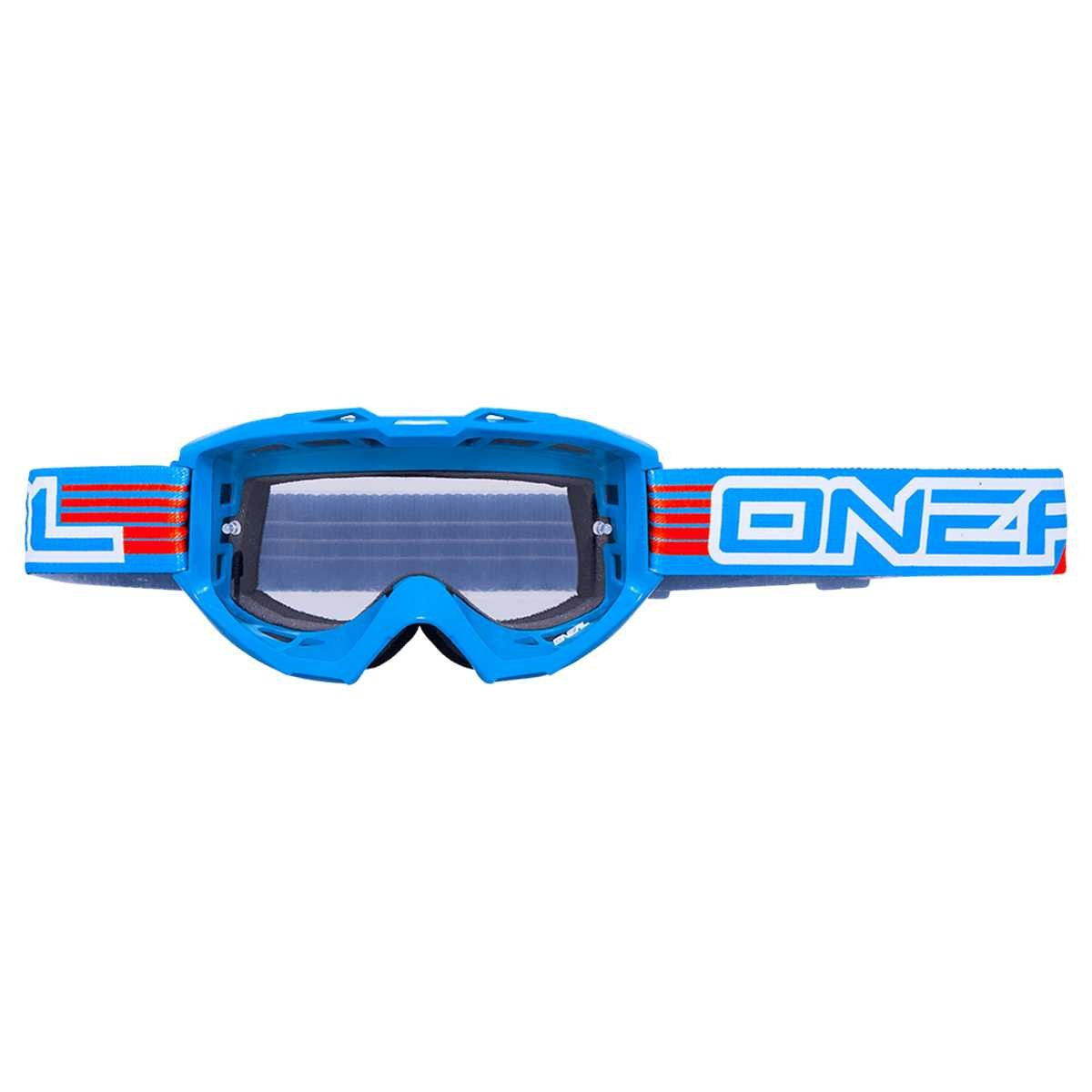 O'Neal Crossbrille B1 Flat Schwarz - Klar
