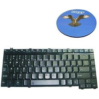 HQRP Laptop Keyboard for Toshiba PK13ZKM0100 / PK13AT10600 / K000001620 / KFRSBA001A Notebook Replacement plus Coaster