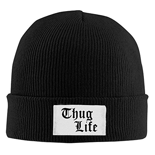 Thug Life Logo Men's Beanie Caps (Over Logo Infant Beanie)