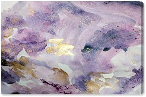 The Oliver Gal Artist Co. Abstract Wall Art Canvas Prints 'Carried Away Amethyst' Home D cor