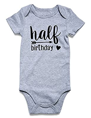 Cutemefy Newborn Infant Baby Boys Girls Romper Bodysuit Short Sleeve Outfit Summer Clothes (Size 0-18 Months)