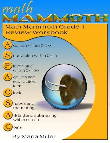 Math Mammoth Grade 1 Review Workbook: Maria Miller: 9781515152231 ...