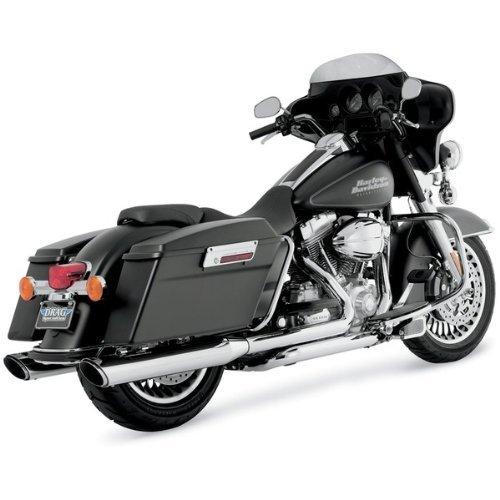 2. Vance & Hines 16763 Twin Slash 4 Rounds Slip-on Mufflers For Harley-Davidson Touring 1995-2016 Bikes
