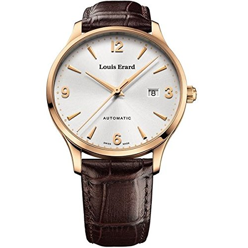 Louis Erard Men's 1931 40mm Brown Leather Band Rose Gold Plated Case Automatic Watch 69219PR11.BRC80