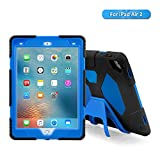 ipad 2 air case girls cool - iPad Air 2 Case, Aceguarder New Design Kids Case Shockproof Scratchproof Drop resistance Super Protection With Stand Cover Case iPad Air 2 (black-blue)