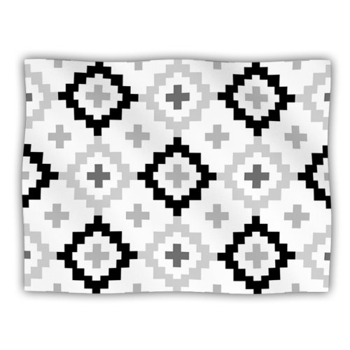 White Dog Blanket (Kess InHouse Pellerina Design