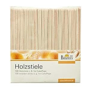 RBV Birkmann 330276 Accesorios de madera para pastel (100 piezas)