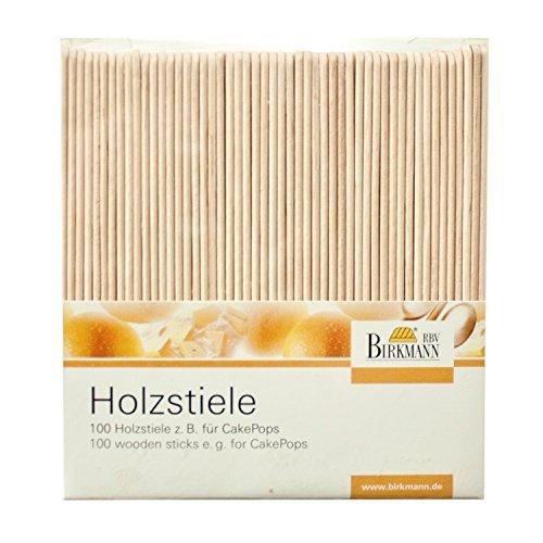 Birkmann Wooden Lollipop Sticks Set 100 Pack, Wood, Beige, 11 x 1 x 0.2 cm RBV Birkmann 330276