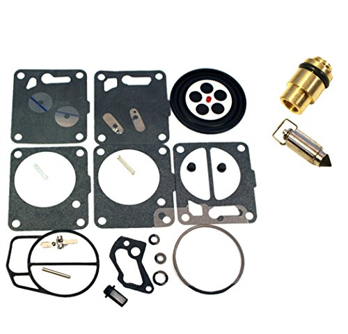 (Compatible With Sea-Doo) Single Carb Mikuni Carburetor Rebuild Kit & Needle/Seat Fits MANY 1994-2001 GS GTI SP ()