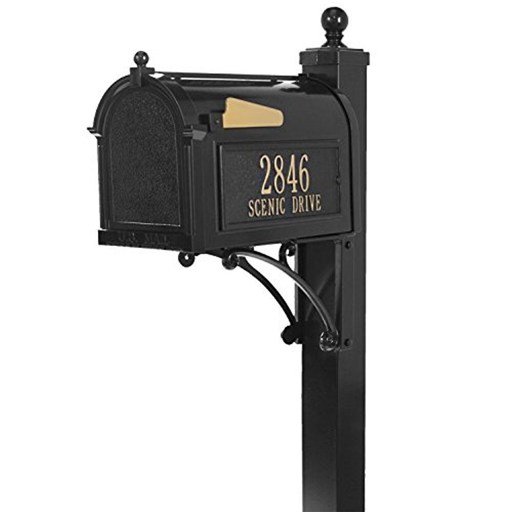 Streetside Deluxe Mailbox Package (Black)