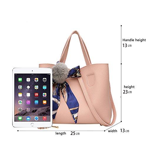 Tisdaini bandoulière Pendentif Sac Dames Nouveau Seau Portable Bag à Deux Main Sac Messenger pièces Balle Rose à HxrHq40w71