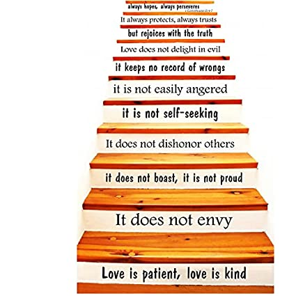 Wall Decals Staircase Quotes Love Is Patient Love Is Kind 60 Beauteous Corinthians Love Quotes