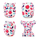 Babygoal Baby Cloth Diapers for Girls, Reusable