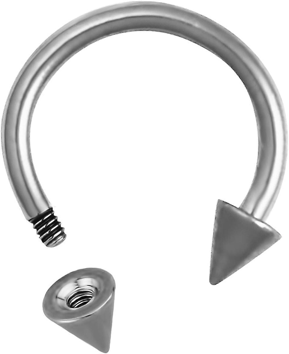 Amazon Com Forbidden Body Jewelry 16g Septum Ring 16 Gauge 5 16