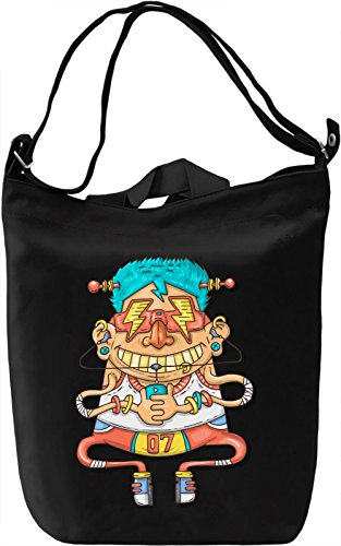 Robot guy Borsa Giornaliera Canvas Canvas Day Bag| 100% Premium Cotton Canvas| DTG Printing|