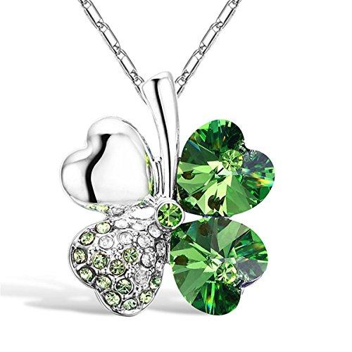 cocostore-four-leaf-versilbert-strass-kristall-clover-statement-kette-anhanger-halskette1