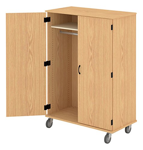 Fleetwood 97.7284.101.000-fsnmple Wardrobe with Doors Rod and Light Oak Trim in Fusion Maple (Maple Oak Armoire)