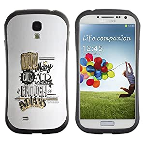 Be-Star Colorful Printed Design Anti-Shock Iface First Class Tpu Case Bumper Cover For SAMSUNG Galaxy S4 IV / i9500 / i9515 / i9505G / SGH-i337 ( funny quote too many chefs gold ) Kimberly Kurzendoerfer