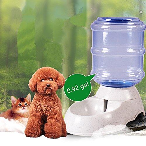 weikai pet gravity waterer dog cat water bottle u0026 bowl 50