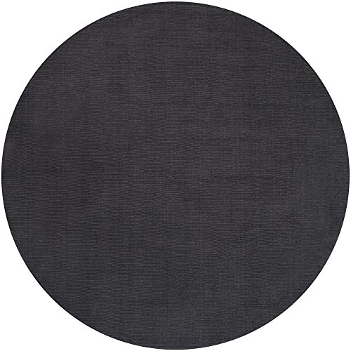 Mystique Rug Charcoal (Surya Mystique M-341 Transitional Hand Loomed 100% Wool Charcoal Gray 6' Round Area Rug)