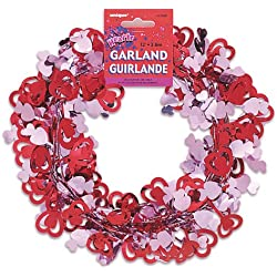 12ft Wire Valentine's Day Heart Garland