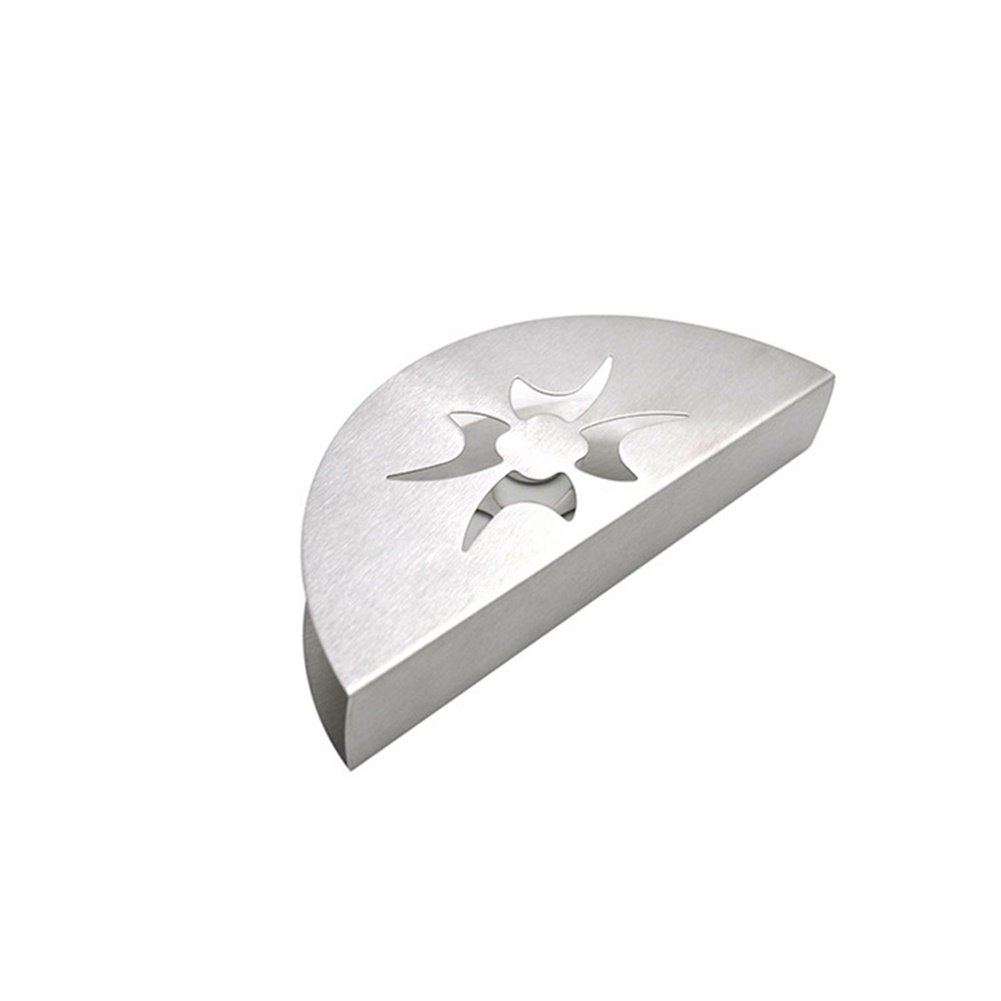 Creative Fashion Sector Stainless Steel Napkin Holder Fanshaped Organizer Container Home Party Dining Table Decoration Alician