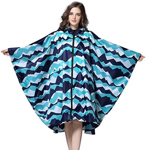 HANGON cappotto stile con cappuccio donna impermeabile impermeabile lungo poncho impermeabile impermeabile 3 colori Giallo