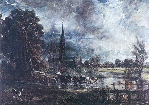 Home Comforts Peel-n-Stick Poster of Constable, John - Viewed Study on Salisbury Cathedral from The Water Meadows of Vivid Imagery Poster 24 x 16 Adhesive Sticker Poster Print (John Constable Salisbury Cathedral From The Meadows)